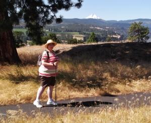 Hiking w/ Leki Pole at Catherine Creek
