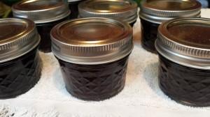 Little jars of huckleberry jam
